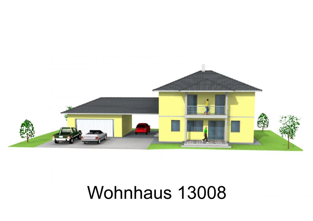 Rendering von Wohnhaus 13008
