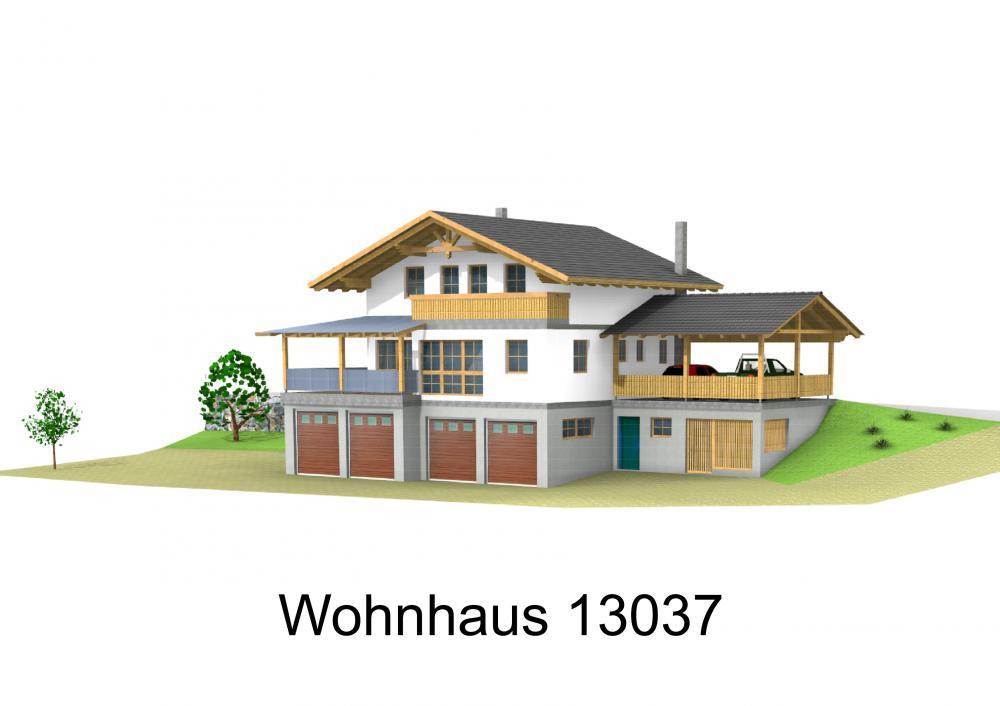 Rendering von Wohnhaus 13037